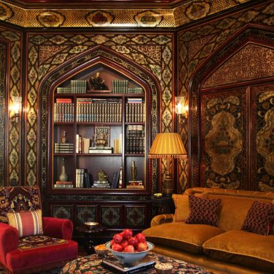 Роскошная гостиная в восточном стиле