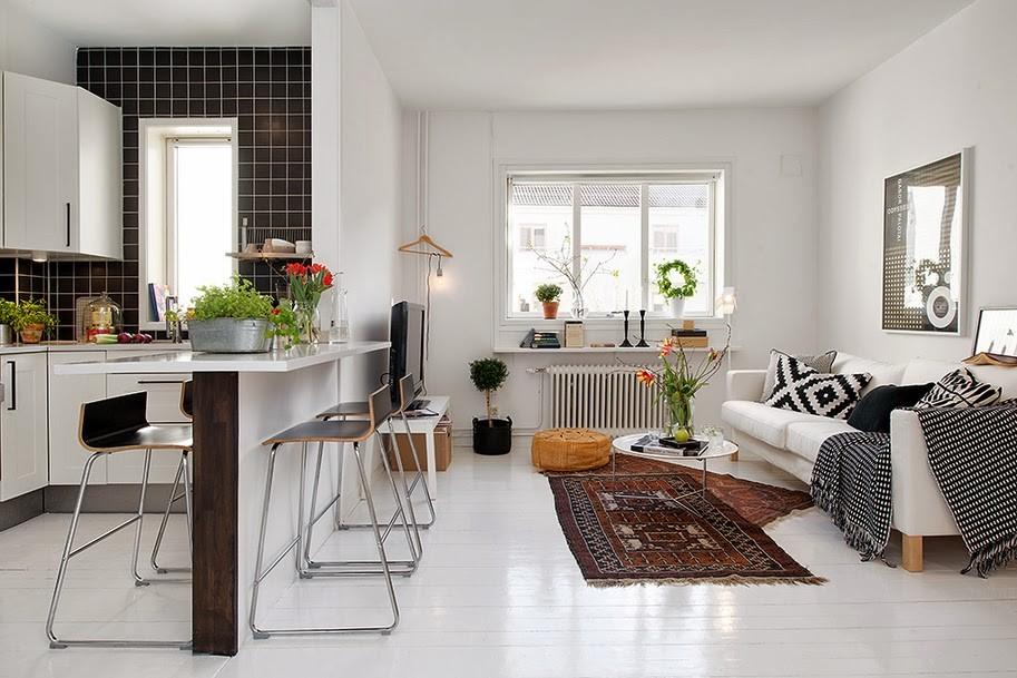 Объединение кухни и гостиной в малогабаритной квартире