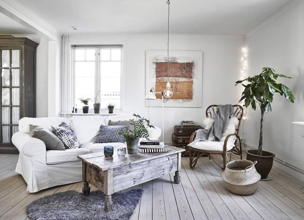 Простая мебель в скандинавском интерьере