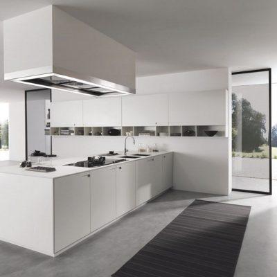 Серая и белая кухня