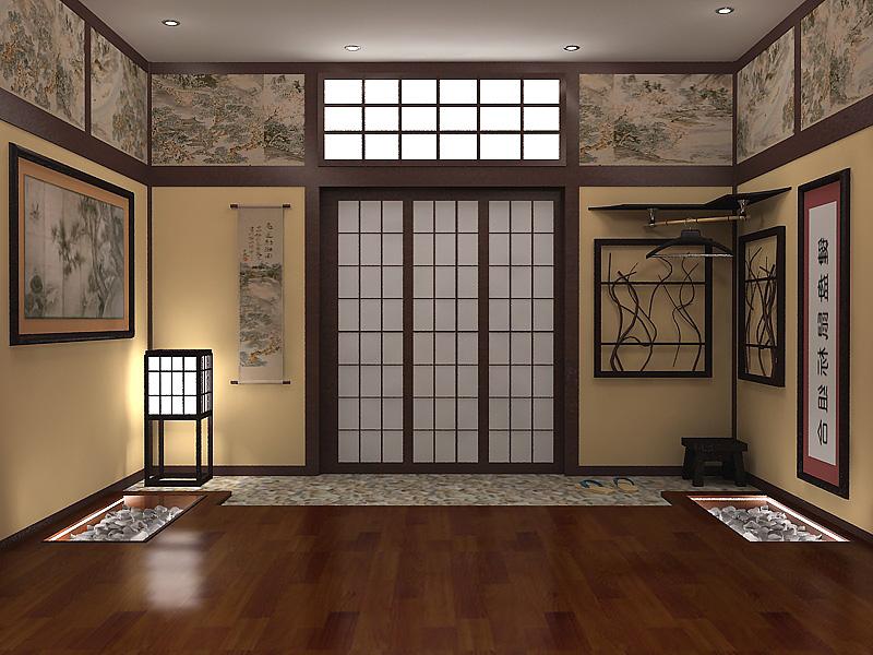 Прихожая в японском стиле - союз сдержанности и изысканности