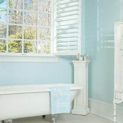 Голубой стиль ванной