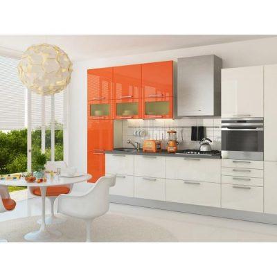 Светло-оранжевая кухня