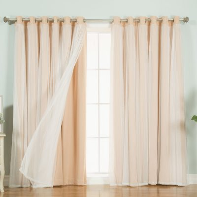 Персиковые шторы