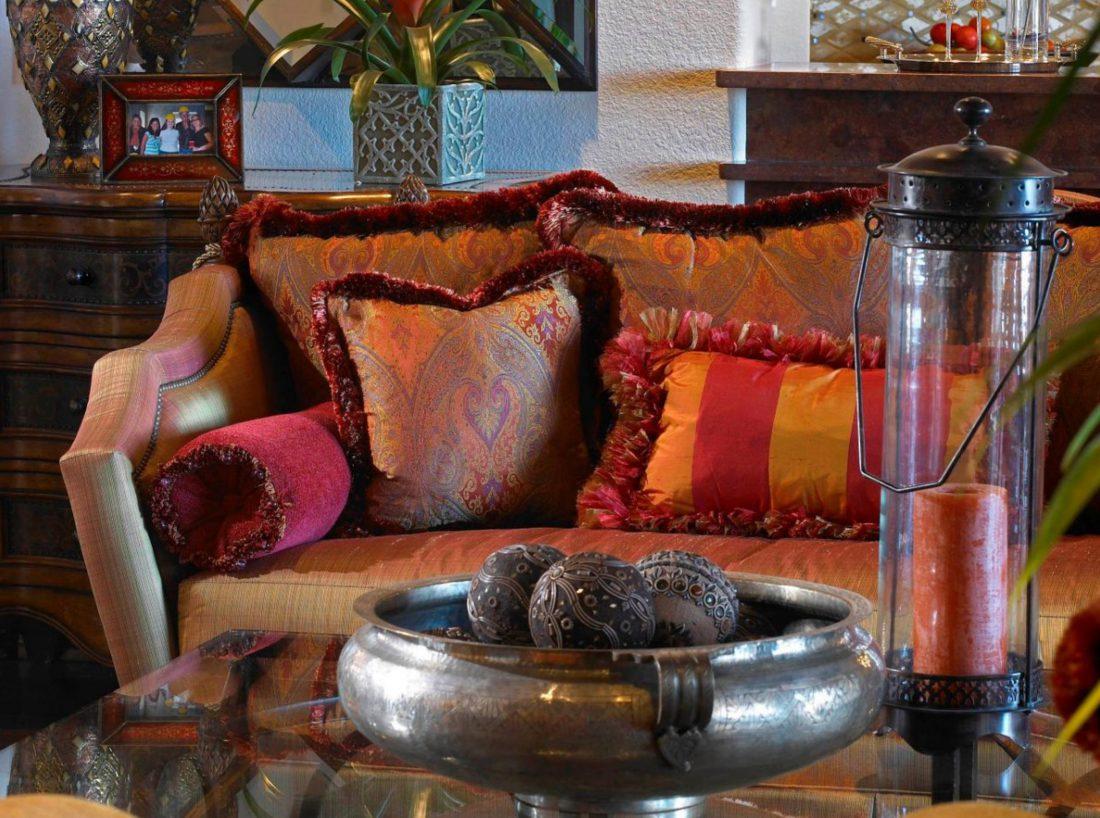 Декоративные подушки в марокканском стиле