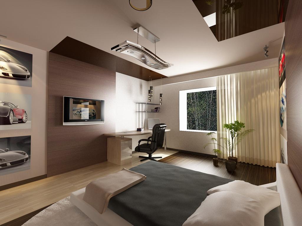 Дизайн комнаты для юноши в современном стиле