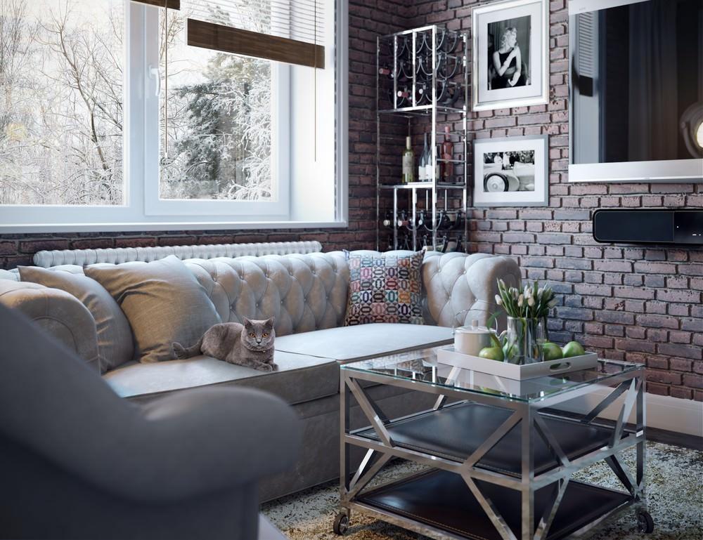Дизайн квартиры-студии в американском стиле
