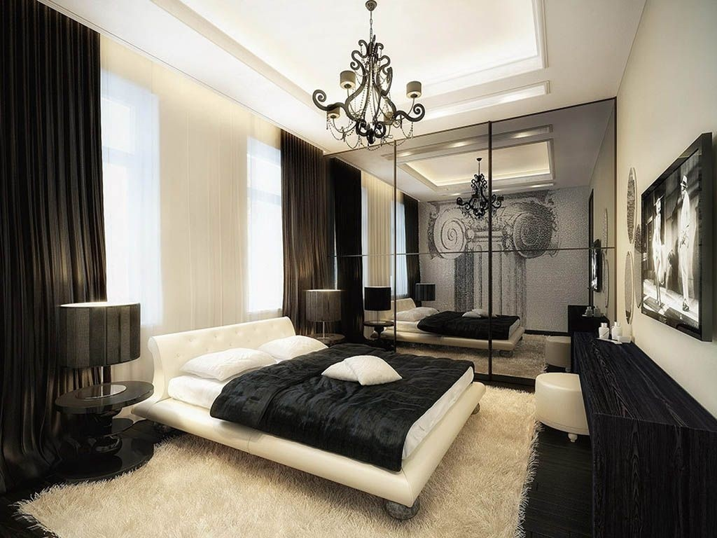Дизайн спальни в стиле модерн фото