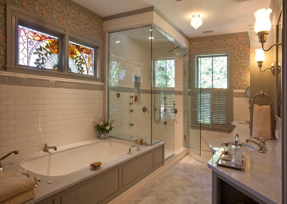 Дизайн ванной в классическом стиле картинка