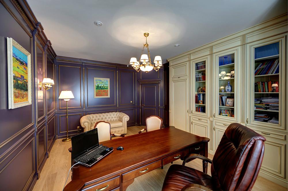 Фото интерьера кабинета дома в английском стиле