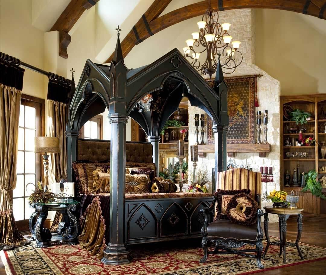 Мебель в гостиной в готическом стиле