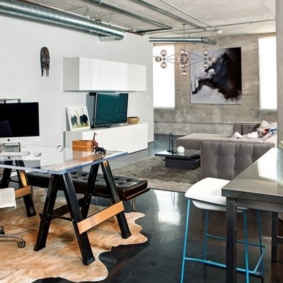 Индустриальный офис дома