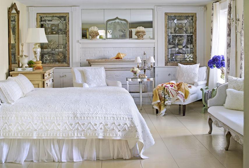 Интерьер спальни в стиле кантри картинка