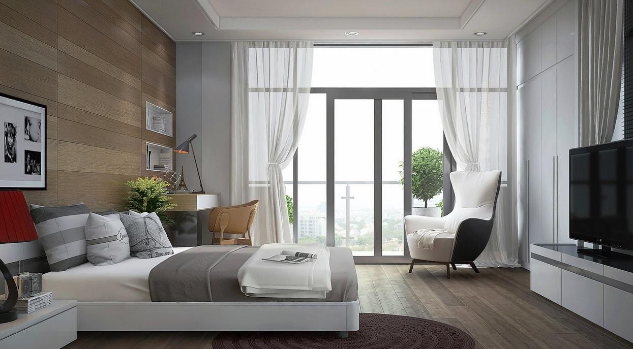 Интерьер спальни в стиле модерн фото