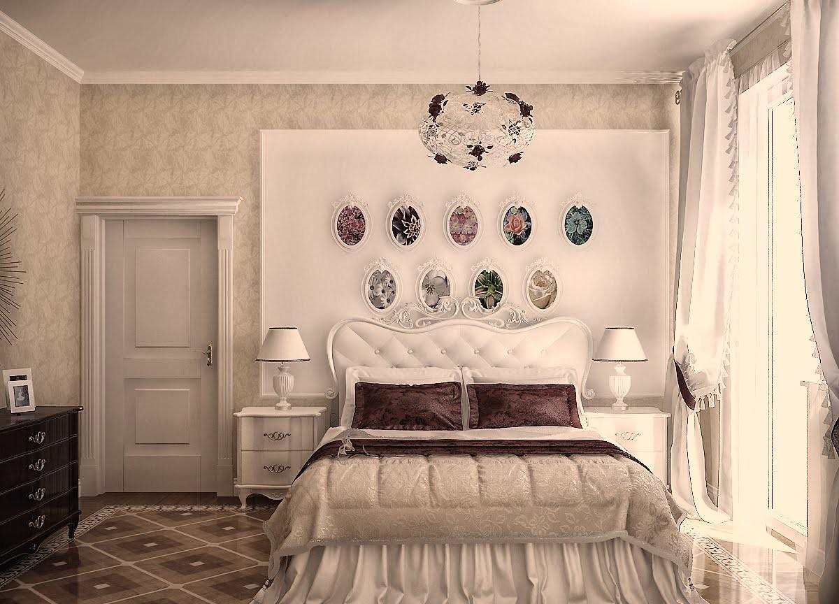 Интерьеры спальни в стиле кантри