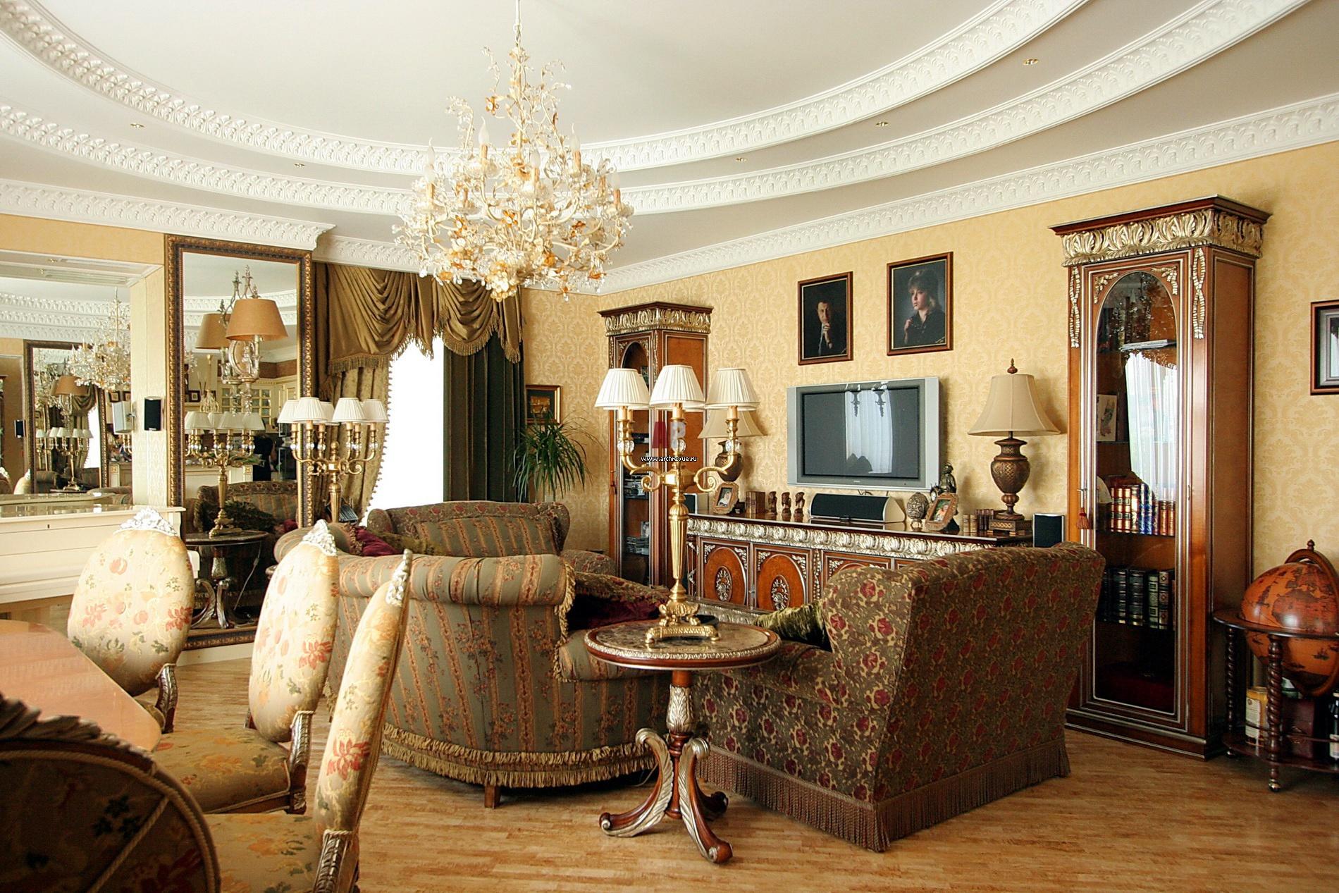 Изумительный дизайн гостиной в английском стиле