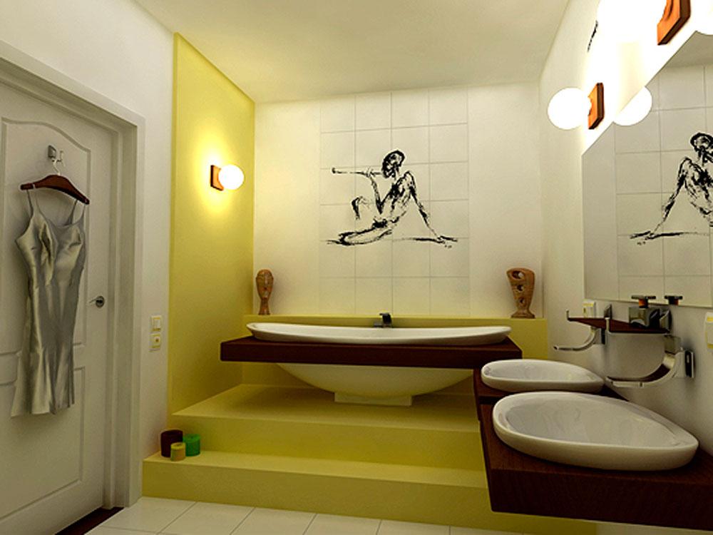 Японский стиль в ванной