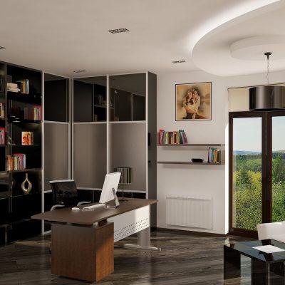 Интересное сочетание угловой стенки и панорамного окна