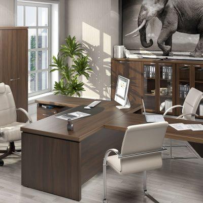Самый простой вариант оформления кабинета