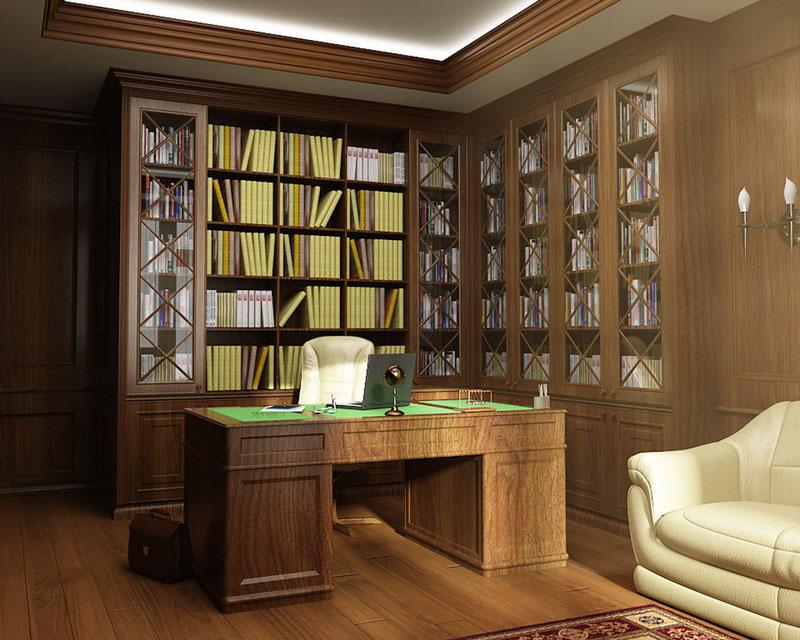 Рабочее пространство: кабинет минимализм