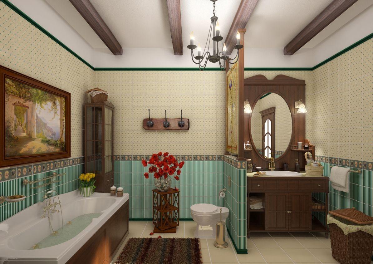 Как сделать ванную в стиле кантри