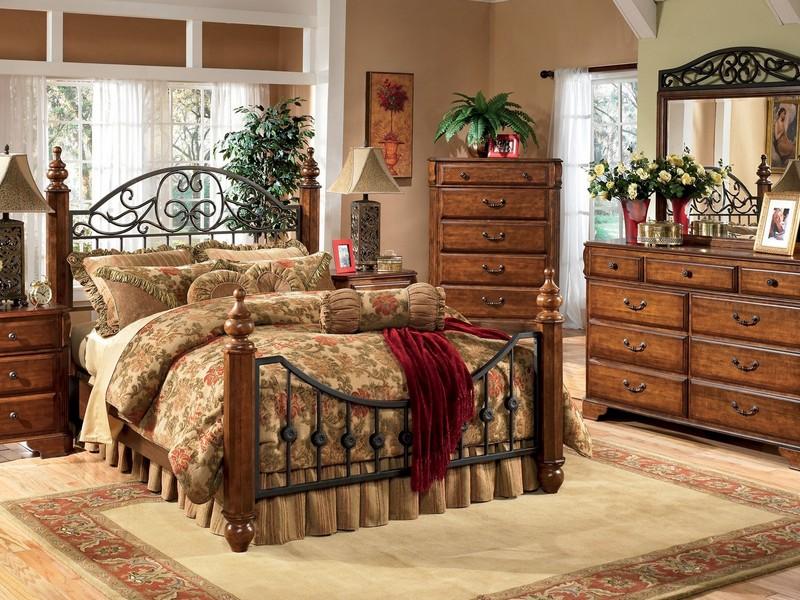 Кантри стиль спальня