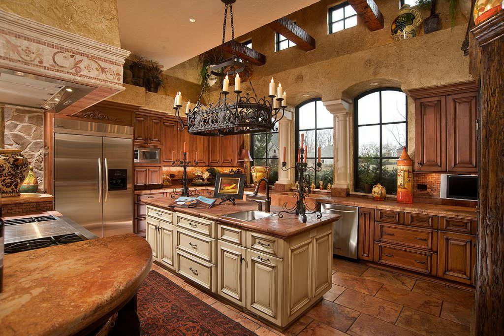 дизайн кухни в старинном стиле фото районе двухметровой