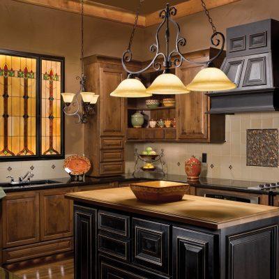 Оформление освещения кухни