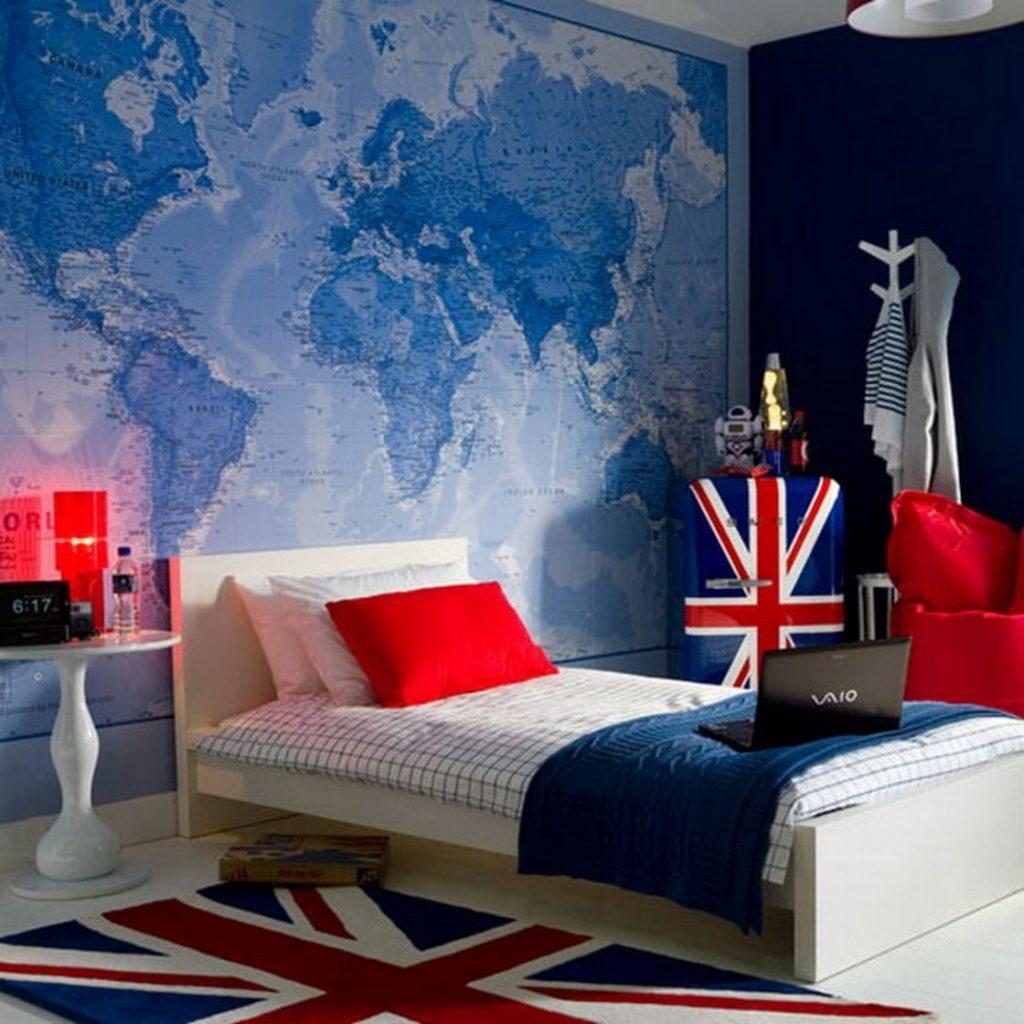 Комната в английском стиле для подростка