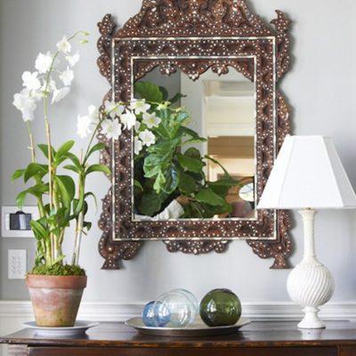 Красивое оформление зеркала
