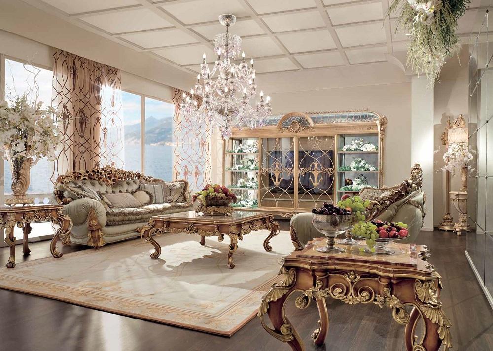 Мебель для гостиной в стиле ампир