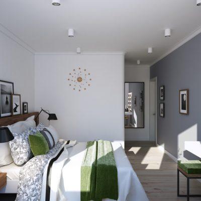 Небольшая спальная комната в современном стиле