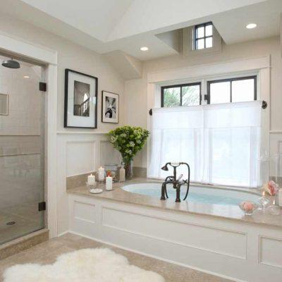 Оформление ванной в стиле кантри