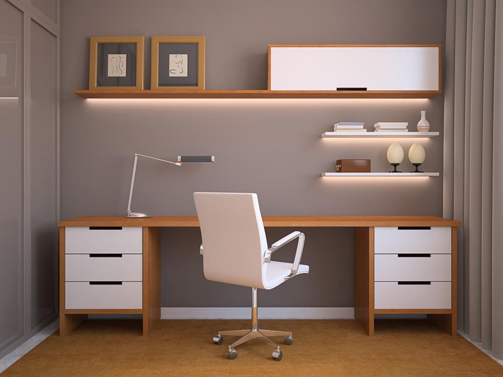 Отделка интерьера кабинета