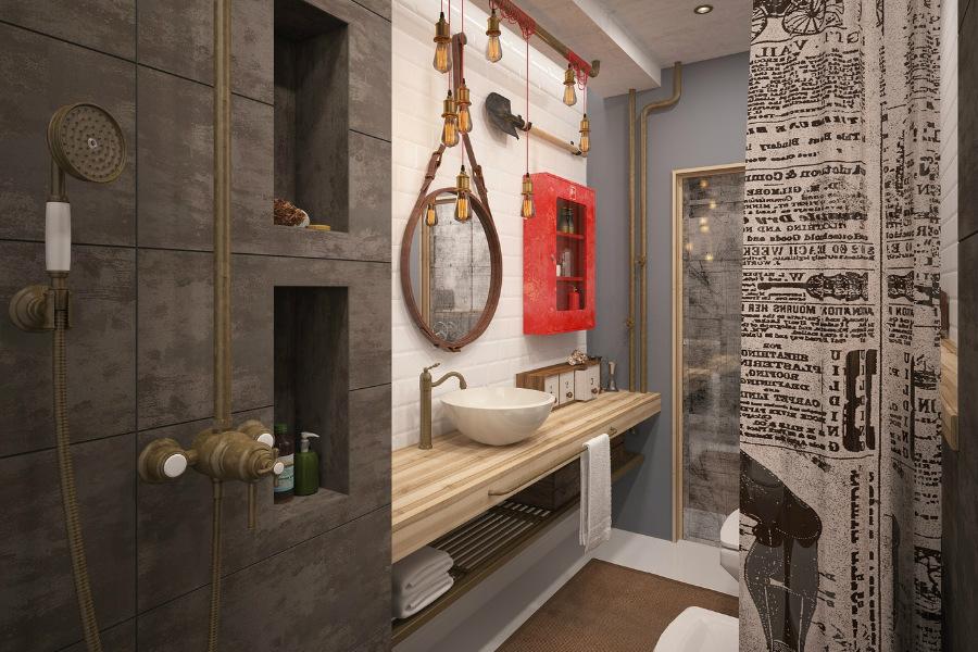 Практичный дизайн ванной