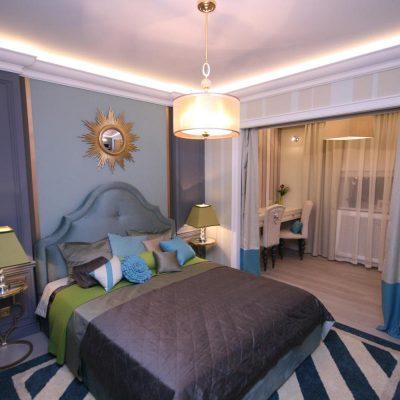 Приятная спальня в американском стиле