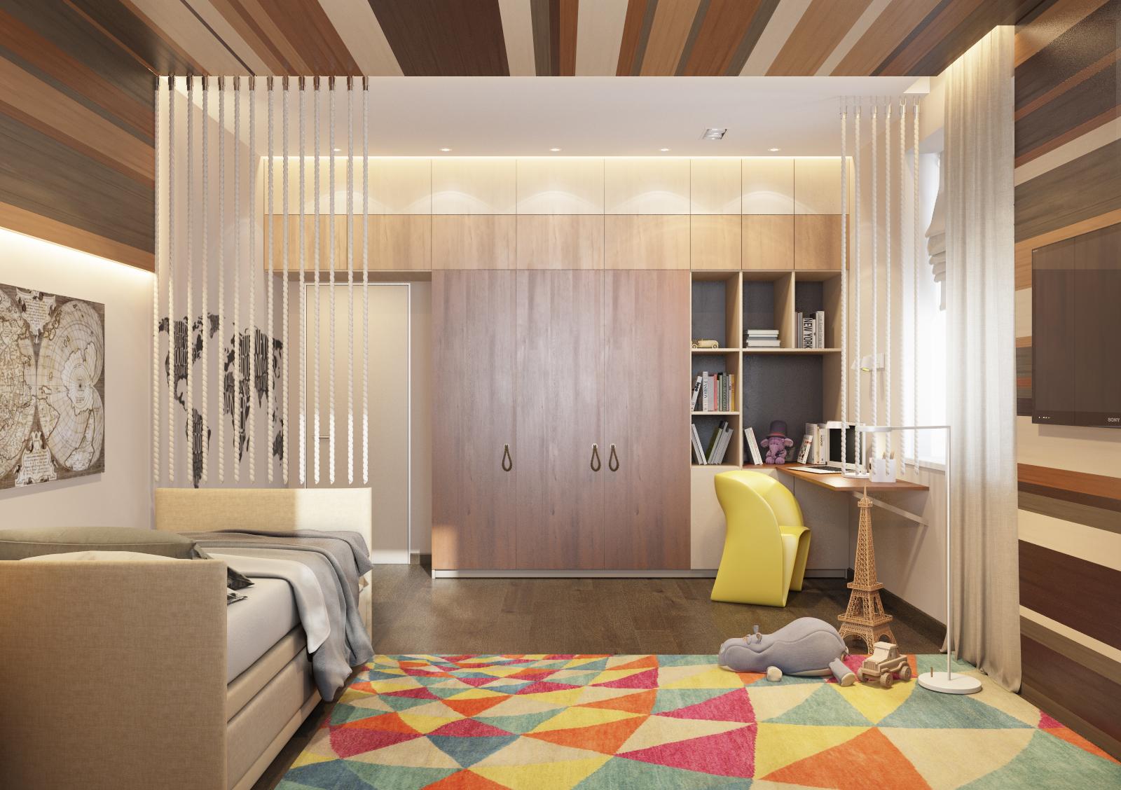 Пример спальни в стиле минимализм