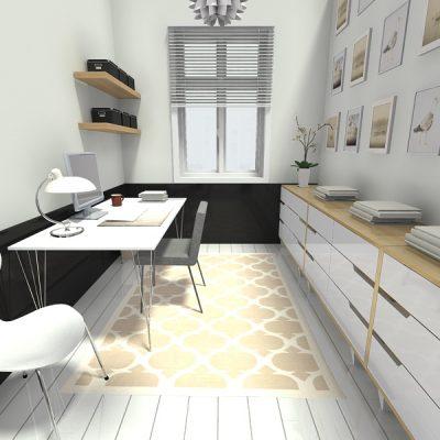 Узкий кабинет дома