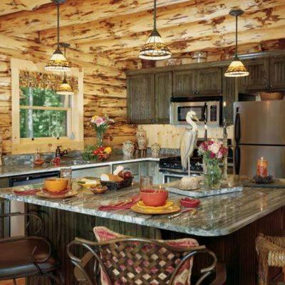 Интерьер оформленной кухни