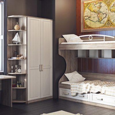 Спокойные тона мебели в гостиной