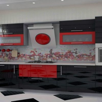 Черно-красная кухня японии