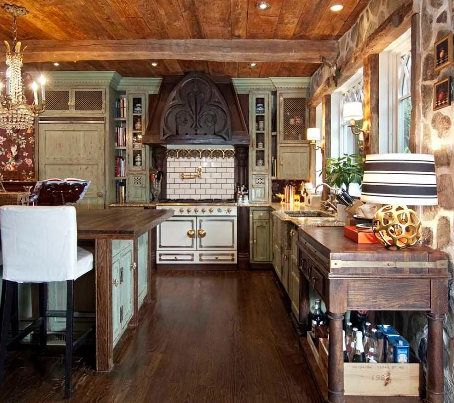 Удобное расположение мебели на кухне