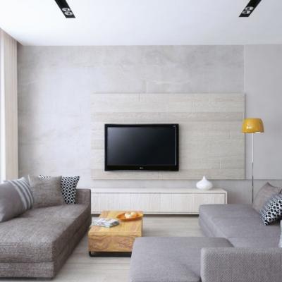Телевизор у стены