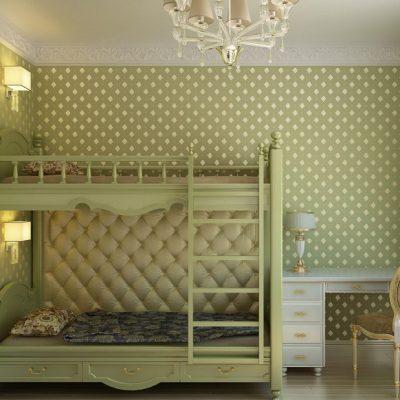 Зеленый оттенок детской комнаты