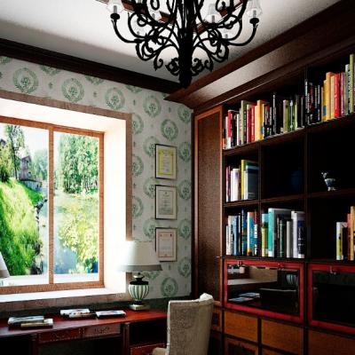Использование в стиле комнаты налета старины