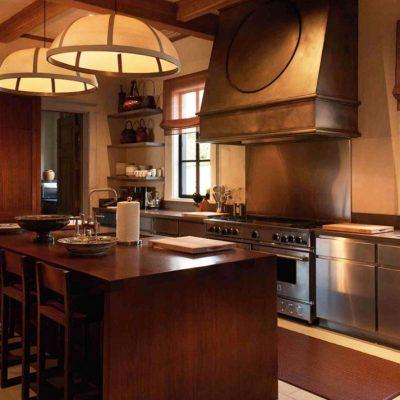 Коричневые тона кухни