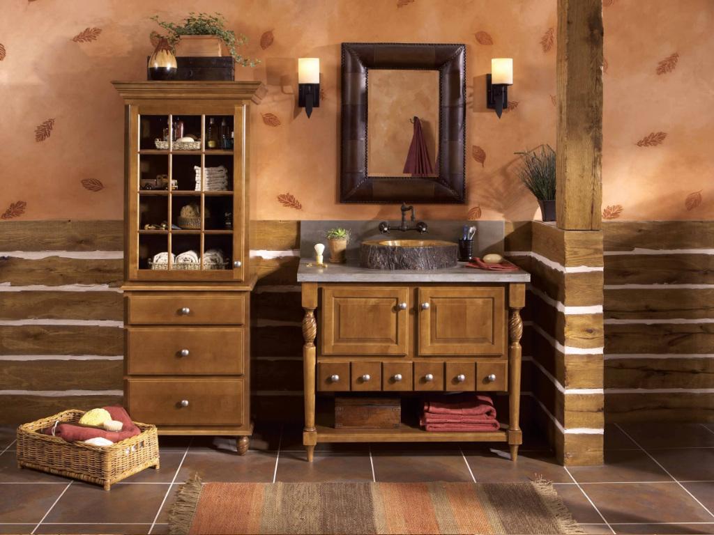 Современная ванная комната в стиле кантри