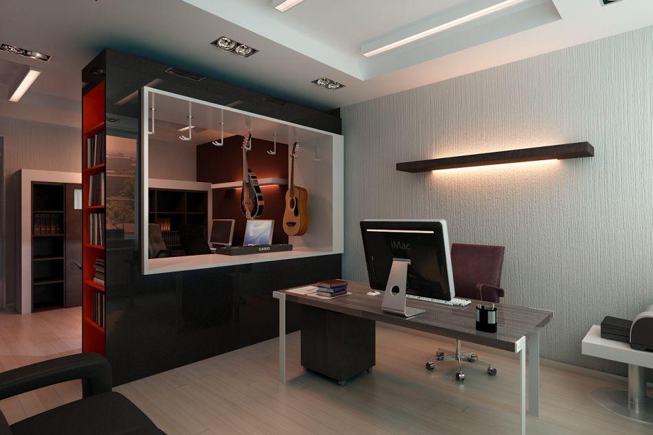 Современный дизайн интерьера рабочего кабинета