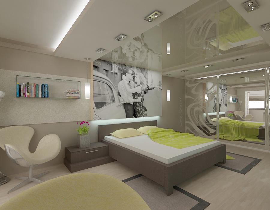 Современный дизайн спальни с фото