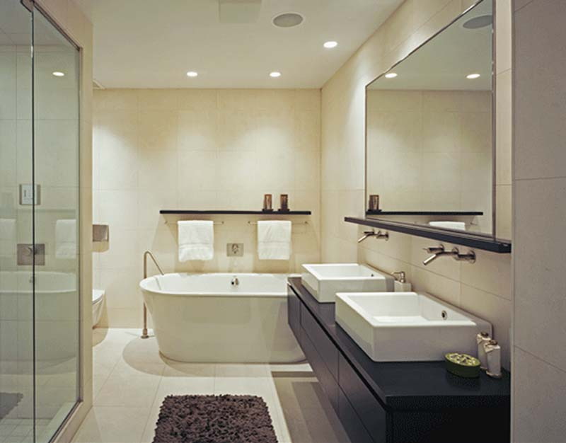 Современный стиль интерьера ванной